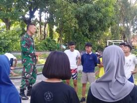 Bati Tuud Koramil Mantrijeron Berikan Pembinaan Kepada Calon Pendaftar Bintara TNI-AD