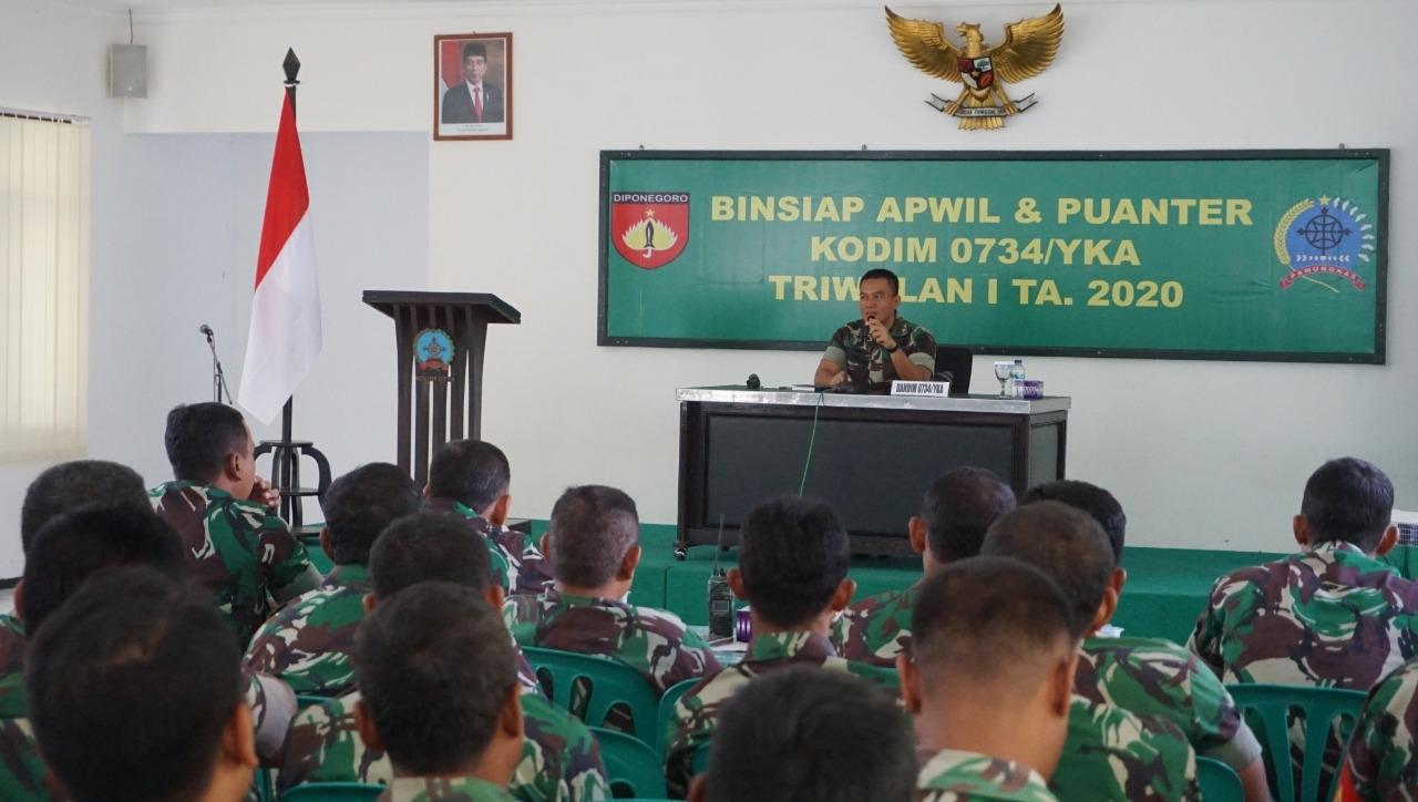 Binsiap Apwil Puanter Salah satu Upaya Kodim 0734/ Yogyakarta Untuk Meningkatkan Kualitas Personilnya