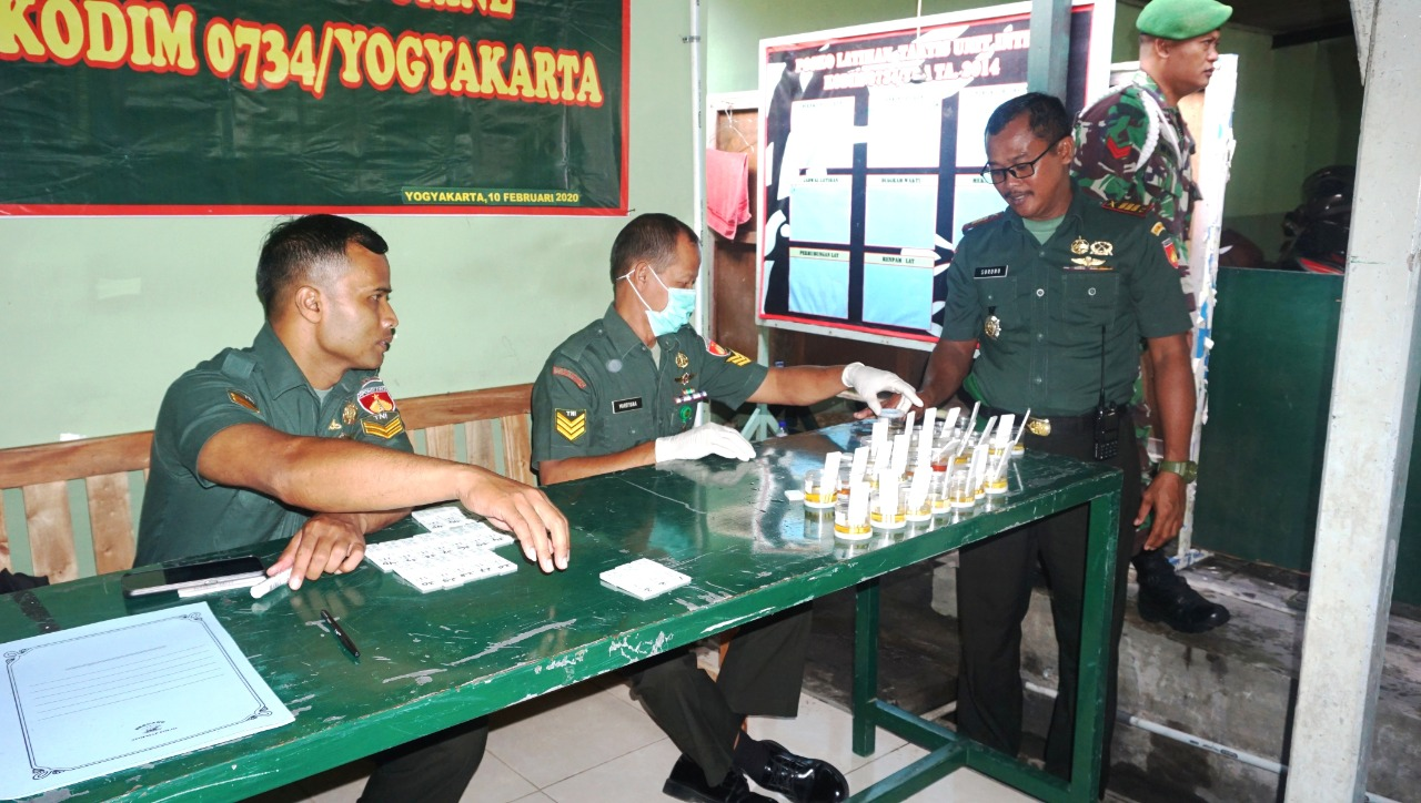 Cegah Bahaya Narkoba Di Lingkungan Prajurit, Kodim 0734/ Yogyakarta Gelar Sosialisasi P4GN