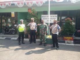 Koramil 11 /Kraton Bersama PJR Polresta Yogyakarta Cegah Penularan Covid-19 Di Masyarakat