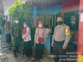 Babinsa Sorosutan Pantau Pelaksanaan Ijab Qobul Pernikahan di Tengah Pandemi Covid 19