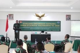 Kodim 0734/Kota Yogyakarta Gelar Evaluasi dan Organisasi Satkowil Tahun 2020