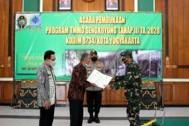 Pandemi Corona Tidak Menyurutkan Kodim 0734/Kota Yogyakarta Untuk Terus Mengabdi Melalui TMMD Sengkuyung.