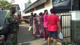 Pantau Dampak Covid-19, BABINSA Koramil 04/Danurejan Sambangi Warga