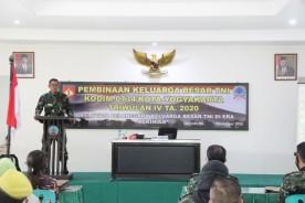 Kodim 0734/KotaYogyakarta Gelar Pembinaan Keluarga Besar TNI