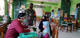 Babinsa Pakuncen Pendampingan Vaksinasi HPV dan MR di SD Muhammadiyah l Wirobrajan