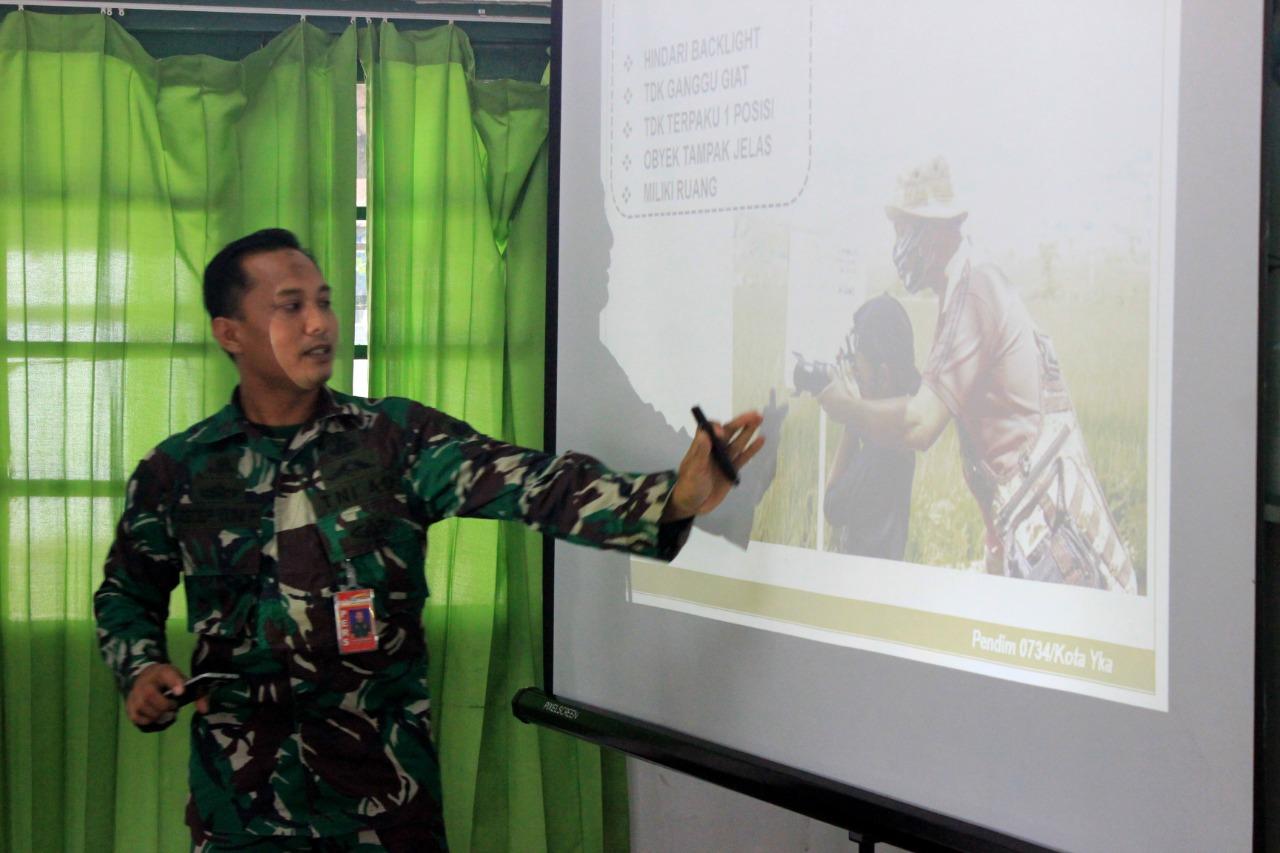 Yonif 403/WP Gelar Pelatihan Dokumentasi dan Release Berita Bersama Pendim 0734/Kota Yogyakarta