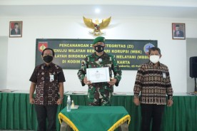 Kodim Kota Yogyakarta Semangat Bangun Komitmen Pencanangan Zona Integritas Wilayah Bebas Korupsi Wilayah Birokrasi Bersih dan Melayani