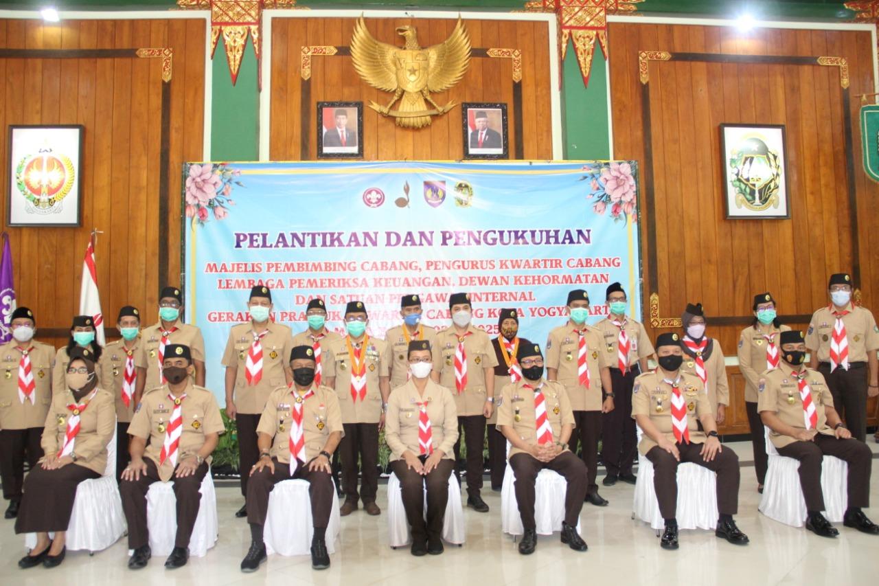 Dandim Kota Yogyakarta Dilantik Majelis Pembimbing Cabang Kwarcab Gerakan Pramuka Kota Yogyakarta