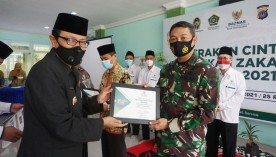 Dandim 0734/Kota Yogyakarta terima Penghargaan Kampanye Gerakan Cinta Zakat (Baznas)