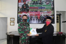 Dandim Kota Yogyakarta Terima Dana pembungnan RTLH dari Baznas